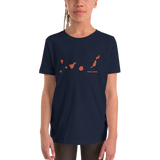 Canary Islands Map Youth Short Sleeve T-Shirt