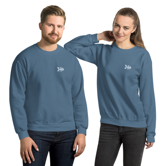 Unisex Crew Neck Sweatshirt with Guanche Anchor Symbol