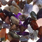 elements tritan - ocean agate, amethyst, fossil wood, rose quartz and chalcedony