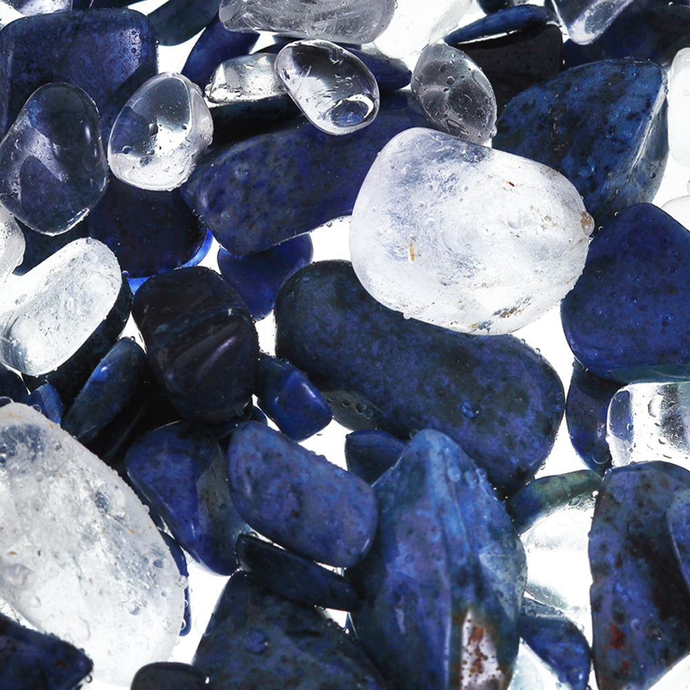 vision tritan - dumortierite and rock crystal
