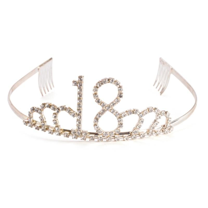 18th DIAMANTE TIARA WITH GIFT BOX