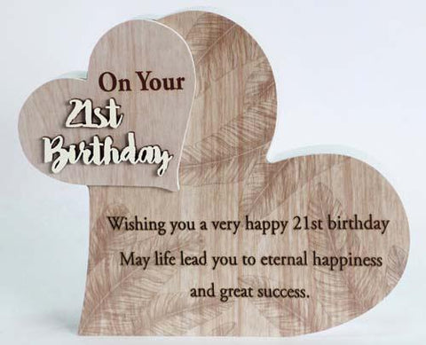 """21st BIRTHDAY"" FROM MY HEART SENTIMENT BLOCK"