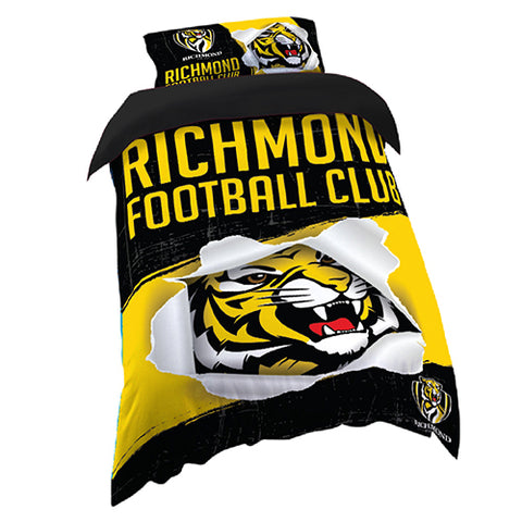 RICHMOND AFL SINGLE QUILT COVER SET