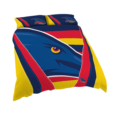 ADELAIDE AFL QUEEN QUILT COVER SET
