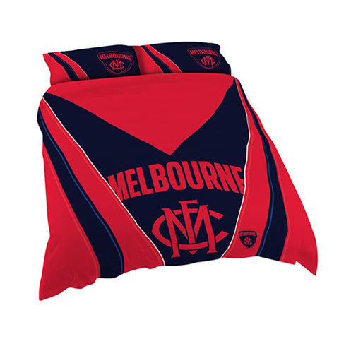 MELBOURNE AFL DOUBLE QUILT COVER SET