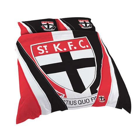ST KILDA AFL QUEEN QUILT COVER SET