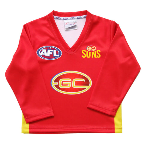 GOLD COAST SUNS AFL INFANT REPLICA GUERNSEY