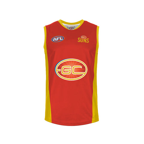 GOLD COAST SUNS AFL MENS REPLICA GUERNSEY