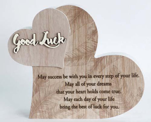 """GOOD LUCK"" FROM MY HEART SENTIMENT BLOCK"