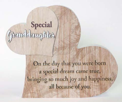 """SPECIAL GRANDDAUGHTER"" FROM MY HEART SENTIMENT BLOCK"