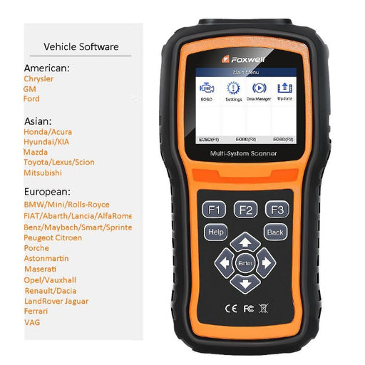 Buy Extra Manufacturer Software For Foxwell NT510/NT520 Pro/NT530 - Foxwell Online