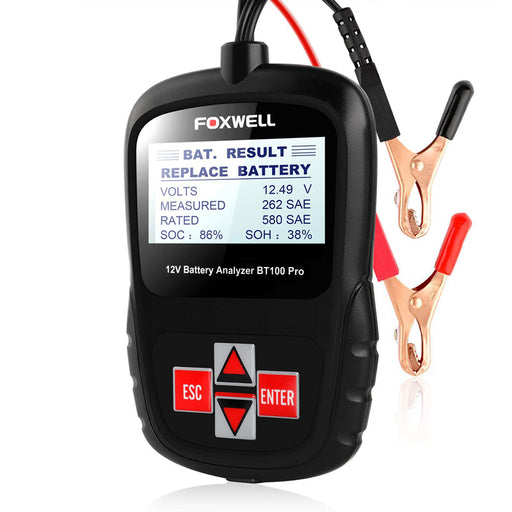 FOXWELL BT100 12V Car Battery Tester 100-1100CCA Automotive Battery Analyzer - Foxwell Online