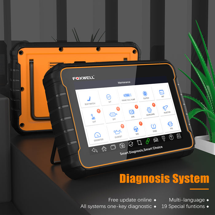 "【US Stock】FOXWELL GT60 Automotive 7"" Android Tablet Diagnostic All System Scanning with 19+ Special Service Functions"