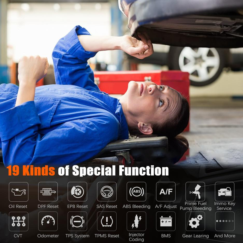 Foxwell GT60 Tablet Automotive Diagnostic Scanner Supported 22 Service Functions