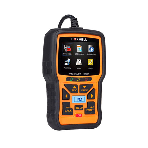 FOXWELL NT301 CAN OBDII/EOBD Code Reader Diagnostic Tool for Check Engine Light - Foxwell Online