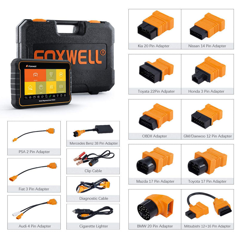 Full Package Set Update Registration Foxwell GT60 Plus Bi-Directional OBD Android Tablet Scan Tool OE-Level Advanced All System Diagnostics with All Needed Service Functions ABS Auto Bleed TPMS Programming SAS