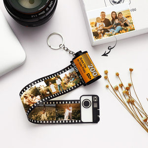 Porte-clés photo personnalisé MultiPhoto Camera Roll Keychain - 15 Photos