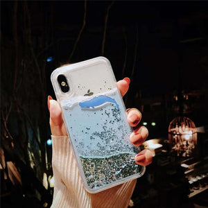 iPhone Quicksand Dolphin Phone Case