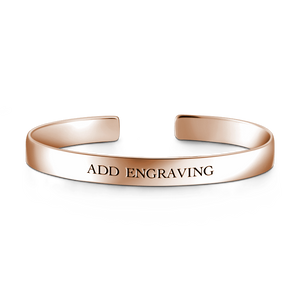 Engravable Cuff Bangle 14K Gold Plated