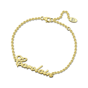 Carrie Style Silver Name Bracelet