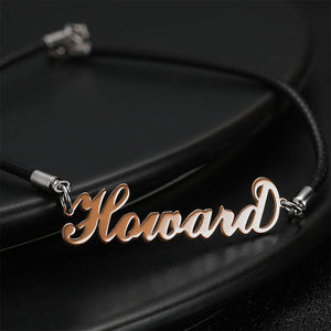 Father's Day Gifts - Personalized Men's Name Bracelet Any Name Bracelet Rose Gold Plated