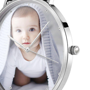 Unisex Engraved Photo Watch Color Nylon Strap 40mm
