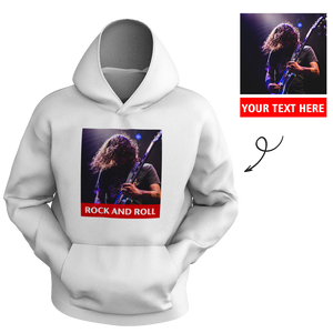 Custom Men's Hoodie Chest Photo with Text