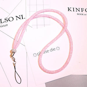 Mobile Phone Rope, Phone Strap Pink