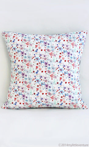 Cushion - Purple Blossoms