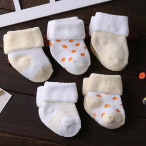 5 Pair/lot new cotton thick baby