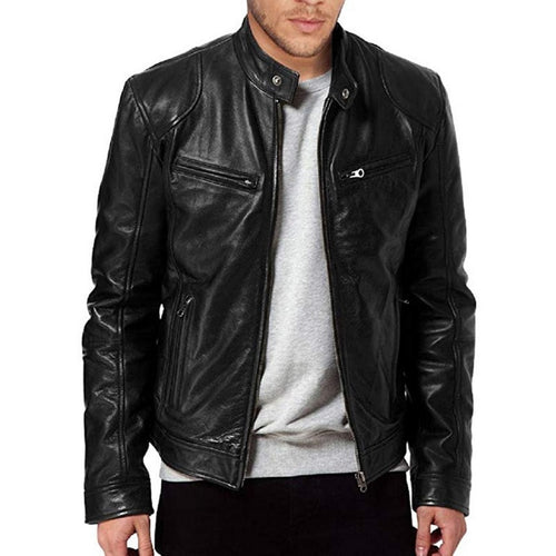 Fashion Autumn Male Leather Jacket
