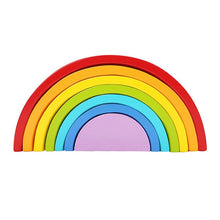 Load image into Gallery viewer, Montessori Wooden Rainbow