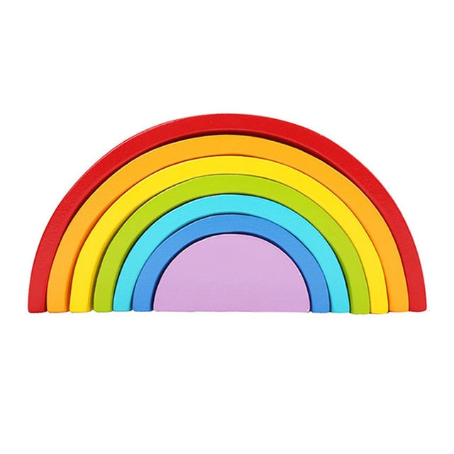 Montessori Wooden Rainbow