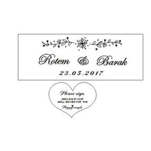 Load image into Gallery viewer, Personalized Wedding guest book