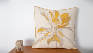 Sweet Floral Blossoms Embroidered Cushion Cover