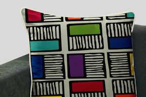 Colorblock Squares Cushion Cover