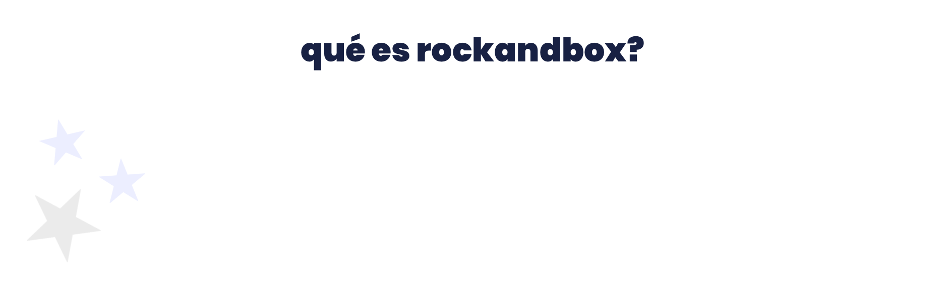 Rock and Box