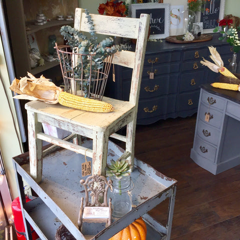 Distressed Farmhouse Furniture available at Vintage Hip Decor