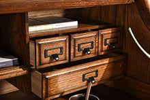 Load image into Gallery viewer, Roll Top Desk Solid Oak Wood