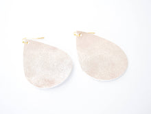 Load image into Gallery viewer, Faux Leather Teardrop Earrings