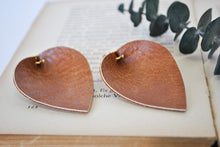 Load image into Gallery viewer, Leather Leaf Earrings