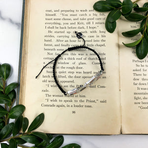 Black Cord Bracelet - Silver Crystal Jewelry - Gift for Special Person