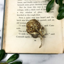 Load image into Gallery viewer, Gold Rose Brooch - Vintage Pin - Mid Century Jewelry