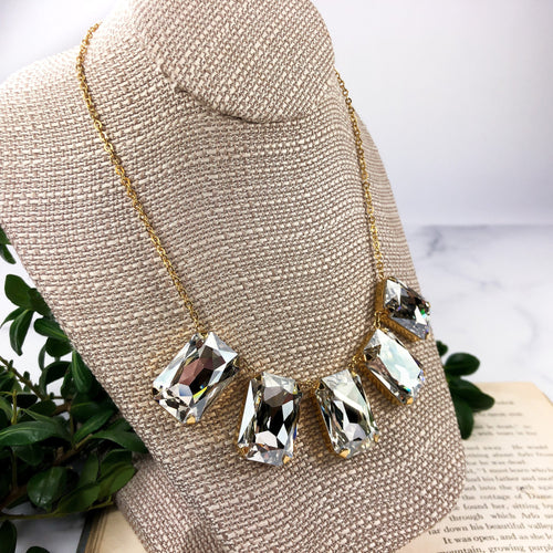 Large Crystal Statement Necklace -