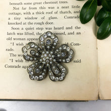 Load image into Gallery viewer, Large Flower Brooch - Pearl and Rhinestone - Costume Jewelry