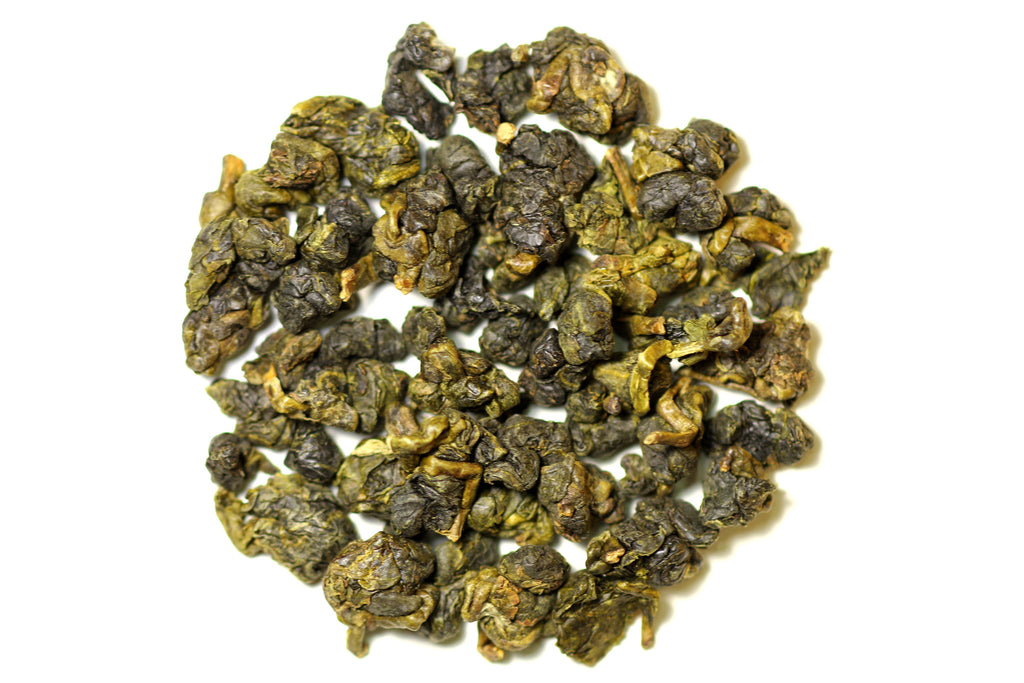Medium Roast Dong Ding Oolong - dry tea leaves