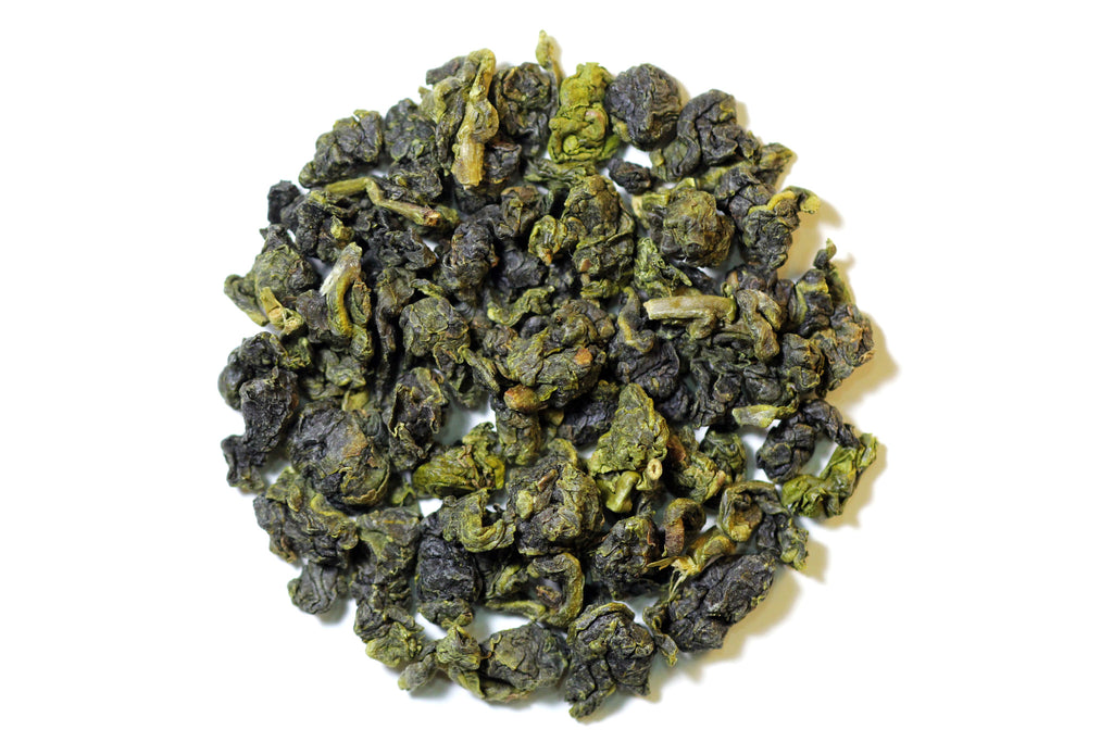 Shan Lin Xi Premium High Mountain Oolong - dry tea leaves