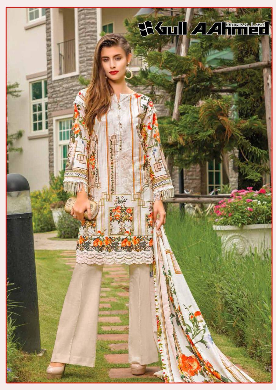 Gull Ahmed Lawn 2 pure lawn printed dress 11