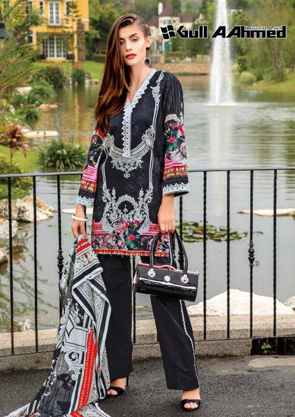 Gull Ahmed Lawn 2 pure lawn printed dress 12