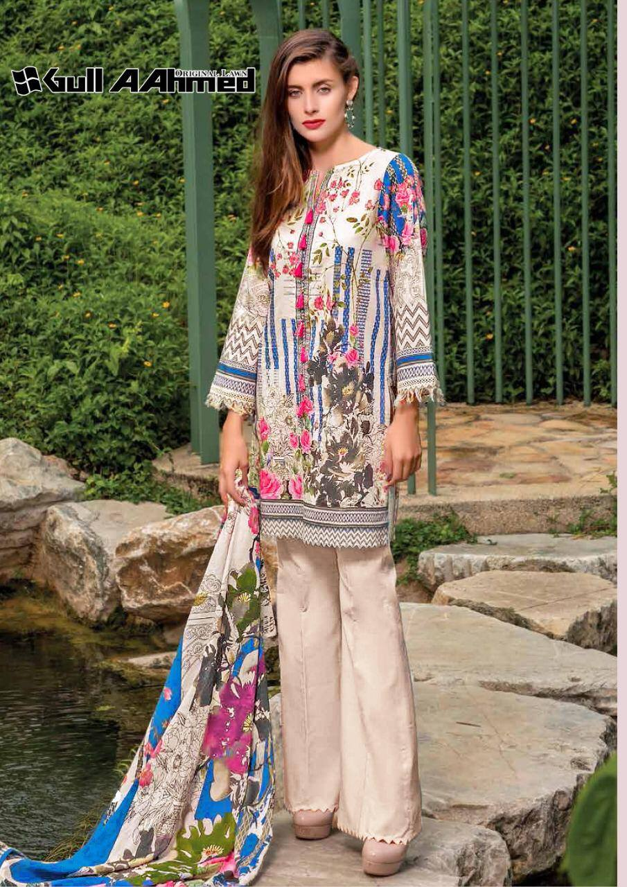Gull Ahmed Lawn 2 pure lawn printed dress 13